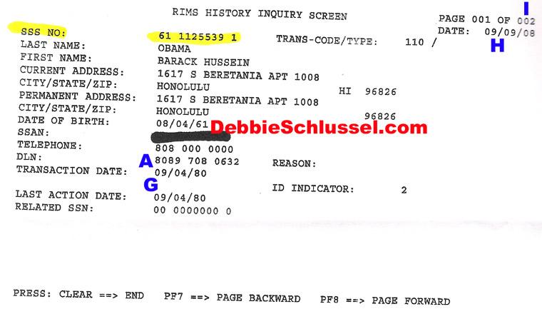Florida Vehicle Registration Number >> 2) Forged SS Registration   Obama's Forged Documents