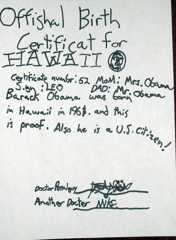 Proof Obama Was Born In Kenya See His Fake Birth Certificate For
