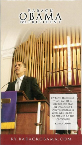 obama posing in church to win Christian vote