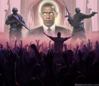 Obama - worship obama with military control