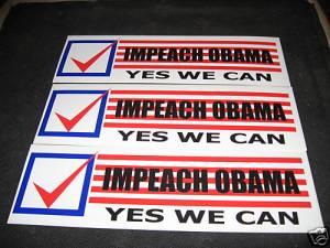 Impeach Obama stickers